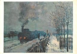 Art - Peinture - Claude Monet - Le Train Dans La Neige - Carte Neuve - CPM - Voir Scans Recto-Verso - Schilderijen