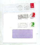 Lettre Flamme Phalsbourg Histoire 3 Types - Mechanical Postmarks (Advertisement)