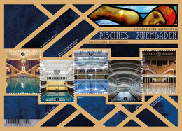 België 2021 ** Architecture Remarqueble Piscines / Zwembaden / Swimming Pools / Uitzonderlijke Architectuur MNH - Unused Stamps
