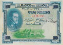 K25 - ESPAGNE - Billet De 100 Pesetas - Année 1925 - Alphonse XIII - 100 Pesetas