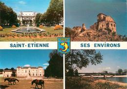 CPSM Saint Etienne Et Ses Environs-Multivues-Timbre    L896 - Saint Etienne
