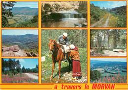 CPSM A Travers Le Morvan-Multivues-Timbre    L896 - Unclassified