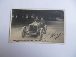 Carte Photo THERY Gagnant Des éliminatoires 1905  -  SIGNATURE ORIGINALE  -  Richard Brasier  Automobile - Autres