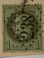 No 25 Yvert Ceres Oblitéré Losange Et 2387 -MONACO- Sur Fragment - 1863-1870 Napoleon III With Laurels