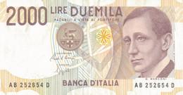 K25 - ITALIE - Billet De 2000 LIRE - Année 1990 - Marconi - 2000 Lire