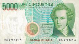 K25 - ITALIE - Billet De 5000 LIRE - Année 1985 - Bellini - 5000 Liras