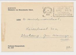 Dienst Nat. Rampenfonds - Aankondiging Scholenactie Watersnoodzegel 1953 - Voor Het Kind - Covers & Documents