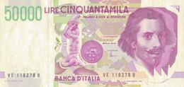K25 - ITALIE - Billet De 50000 LIRE - Année 1992 - Bernini - Other - Europe