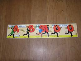 TINTIN Tournesol Haddock Hergé  Autocollants - Billets Loterie Opération 48 81 00 Tombola 1974 48.81.00 Autocollant BD - Adesivi