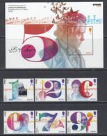2020 Jersey Beethoven Music Composer Complete Set Of 6 +  Souvenir Sheet  MNH @ BELOW FACE VALUE - Jersey