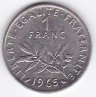 1 Franc Semeuse Année 1965  226-10  TTB Petite Chouette - H. 1 Franc