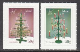 2019 Iceland Christmas Noel Navidad Complete Set Of 2 MNH @ BELOW Face Value - Unused Stamps