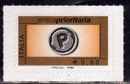 ITALIA REPUBBLICA ITALY REPUBLIC 2006 2008 POSTA PRIORITARIA PRIORITY MAIL € 0,60 MNH - 2001-10: Mint/hinged