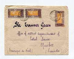 !!! DAHOMEY, ENTIER POSTAL DE PORTO NUOVO DE 1925 POUR QUEBEC - Lettres & Documents