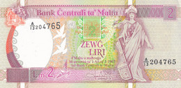 K25 - MALTE - Billet De 2 Liri - Année 1967 - Malta