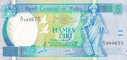 K25 - MALTE - Billet De 5 Liri - Année 1967 - Malta