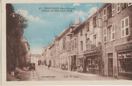 Eymoutiers  87  Avenue Du Marechal Foch Bien Animée Voiture Et Articles De Menages Courrier Du Centre-Epicerie - Eymoutiers