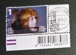 Nederland - NVPH - 2776f - 2010 - Gebruikt - Cancelled - Kinderzegel - Kind Met Zwart Truitje - Met Tab Links En Onder - Used Stamps