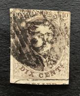 "Medaillon OBP 10 - 10c Gestempeld RANDINSCRIPTIE ""ATELIER DU TIMBRE"" P45 GAND - 1858-1862 Medaglioni (9/12)"