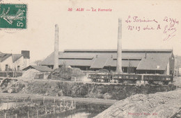 CPA (81) ALBI N° 36 La Verrerie Usine Industrie Métier  2 Scans - Albi