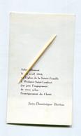 Woluwe-Saint-Lambert. Jean Dominique BURTON, 1964, Communion. Faire-part Souvenir Pieux Woluwe-St-Lambert - Communion