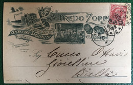 1909 - Italia Regno - Cartolina Postale Commerciale - Alfredo Zoppi - Da Milano Per Biella - 72 - Storia Postale