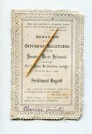LIEGE. 1899. Ferdinand Nagant. Ordination Sacerdotale Et Première Messe Solennelle. Souvenir Pieux Prêtre Curé église - Other