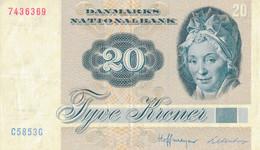 K26 - DANEMARK - Billet De 20 KRONER - Année 1972 - Denmark