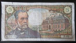 France - Billet 5 Francs Pasteur 7-12-1967 - D.63 - 5 F 1966-1970 ''Pasteur''