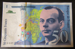 France - Billet 50 Francs Saint Exupéry 1999 - SPL - 50 F 1992-1999 ''St Exupéry''
