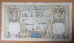 France - Billet 1000 Francs Cérès Et Mercure Du 19 Mai 1938 - H.3312 - 1 000 F 1927-1940 ''Cérès Et Mercure''