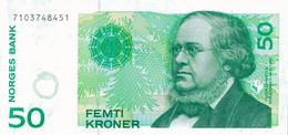 K26 - NORVÈGE - Billet De 50 KRONER - Année 2000 - Peter Christen - Norvège