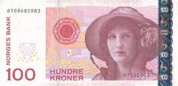K26 - NORVÈGE - Billet De 100 KRONER - Année 1995 - Norway