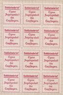 """WW1 ERA Germany CINDERELLA  World War, Stamp """"Soldiers Letter"""" Weltkrieg Marke Soldatenbrief BLOCK OF 12 RARE - Ungebraucht"""