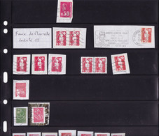 Lot De Faux Timbres Marianne Dont 13 Carnet Entier - Collections