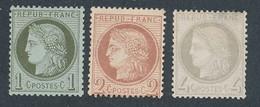 EB-347: FRANCE: Lot Avec CERES  NSG N°50-51(léger Pli)-52 (clair) - 1871-1875 Ceres