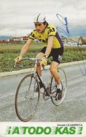 CARTE CYCLISME ISMAEL LEJARRETA SIGNEE TEAM KAS 1977 - Radsport