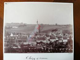 02 AISNE CHEZY Sur Marne Belle Photo Originale De 1886 Vue Panoramique, Clocher De Chézy Sur Marne - Anciennes (Av. 1900)