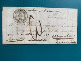 Pli Par Bateau à Vapeur De Paimboeuf 27 Nov 1848 - 1801-1848: Precursors XIX