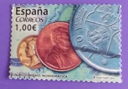 ESPAGNE SPANIEN SPAIN ESPAÑA 2014 FROM CARNET COLLECTING COLECCIONISMO USED ED 4861 MI 4860 YT 4565 SC 3958G SG 4838 - 2011-... Afgestempeld