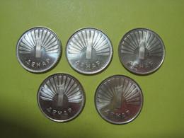 Lot Macedonia 5 Coins 1 Denari 2008 UNC. - Macedonia