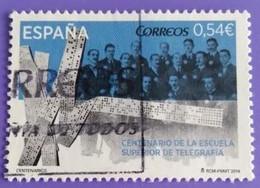 ESPAGNE SPANIEN SPAIN ESPAÑA 2014 CENT SUPERIOR SCHOOL OF TELEGRAPHY USED ED 4866 MI 4865 YT 4570 SC 3958 SG 4843 - 2011-2020 Usados