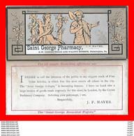 CHROMOS. Pharmacie. SAINT GEORGES PHARMACY (Philadelphie)  Manhood...S1184 - Autres