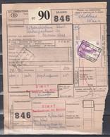 Vrachtbrief Met Stempel Brugge Zeehaven 3 DIMAT - 1952-....