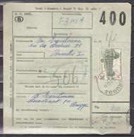Vrachtbrief Met Stempel BRUGGE 4 - 1952-....