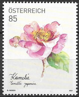 2021  Austria Österreich    Mi. 3574 **MNH  Kamelie (Camellia Japonica) - 2011-... Nuevos & Fijasellos