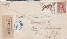 ARGENTINA. ENVELOPPE CIRCULEE AN 1945. GENERAL SARMIENTO A BUQUE RASTREADOR PY, BASE DE SUBMARINOS, MAR DEL PLATA- LILHU - Briefe U. Dokumente