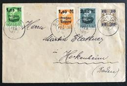 Freistaat Bayern 1920 Von Speyer Nach Hokenheim (1042) - Beieren
