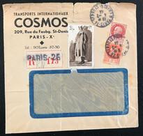 France  1944 De Paris Vers Fresnes Lettre Publicitaire Avec Vignette Aide Aux Prisonniers (1043) - Covers & Documents