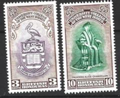 British  Honduras   1951  SG  106-7  W.I. University  Mounted Mint - Honduras Britannique (...-1970)
